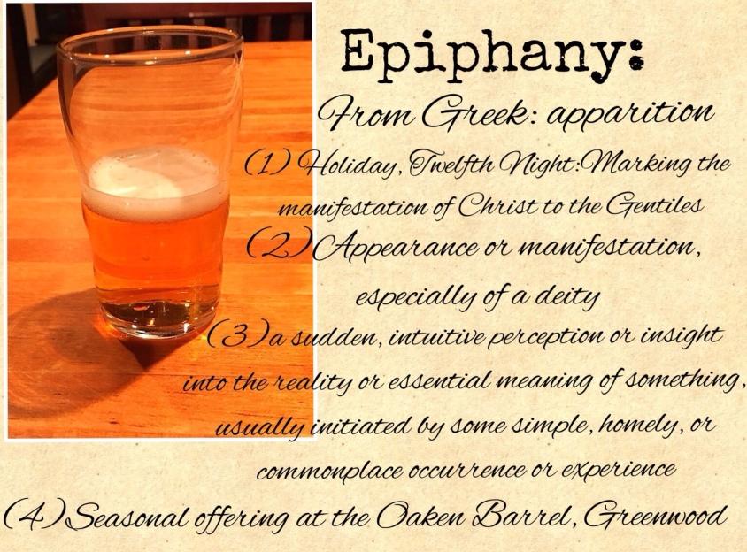Oaken Barrel Epiphany