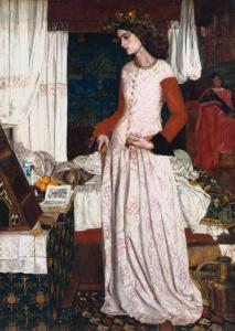 La Belle Iseult 1858 by William Morris 1834-1896