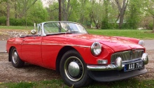 Red 1967 MG B