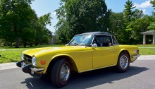 Polly the MG at Earlham College, July 2019