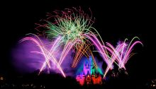 Disney World Orlando with Fireworks Wikimedia Commons