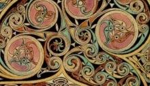 Triskelions in the Lindisfarne Gospels